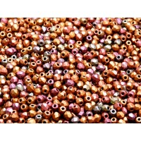 100 pcs Czech Fire Polished Faceted Glass Beads Round 3mm Bronze Violet Rainbow Matte