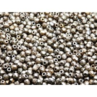 100 pcs Czech Fire Polished Faceted Glass Beads Round 3mm Bronze Grey Rainbow Matte