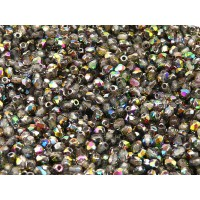 100 pcs Czech Fire Polished Faceted Glass Beads Round 3mm Crystal Vitrail