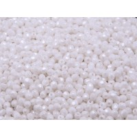 100 pcs Czech Fire Polished Faceted Glass Beads Round 3mm Opaque White Ceramic Look