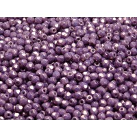 100 pcs Czech Fire Polished Faceted Glass Beads Round 3mm Opaque Mix Amethyst Gold Ceramic Look