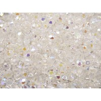 100 pcs Czech Fire Polished Faceted Glass Beads Round 4mm Crystal AB