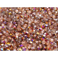 100 pcs Czech Fire Polished Faceted Glass Beads Round 4mm Crystal Sliperit