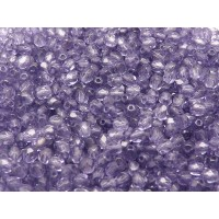 100 pcs Czech Fire Polished Faceted Glass Beads Round 4mm Tanzanite