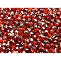 100 pcs Czech Fire Polished Faceted Glass Beads Round 4mm Hyacinth Valentinit