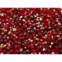100 pcs Czech Fire Polished Faceted Glass Beads Round 4mm Ruby Valentinit