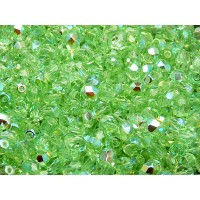 50 pcs Czech Fire Polished Faceted Glass Beads Round 5mm Peridot Green AB