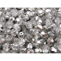 25 pcs Czech Fire Polished Faceted Glass Beads Round 8mm Crystal Labrador