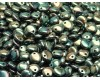 50 pcs Czech Pressed Glass Beads Lentil 6mm Jet Full Celsian